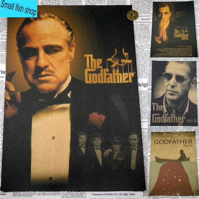 The Godfather Marlon Brando reactionaire bende Woninginrichting decoratie Kraft Filmaffiche Tekeningkern Muurstickers