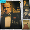 The Godfather Marlon Brando reactionary gang Home Furnishing decoration Kraft Movie Poster Drawing core Wall stickers