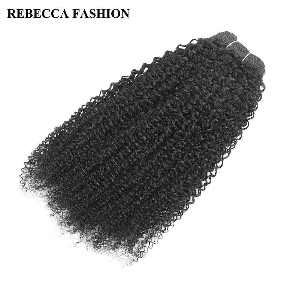 Rebecca Braziliaanse Remy Menselijk Haar Weave 1 Bundel Afro kinky Wave Zwart Bruin Voor Salon Hair 1 # 1B #2 #4 # vergoeding Verzending 100g