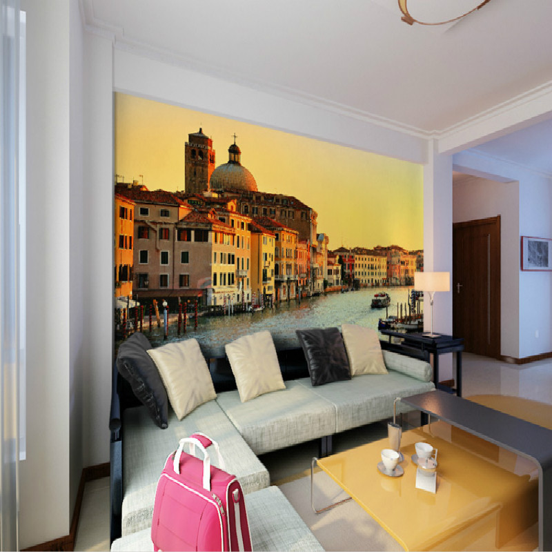 Mural Venice water landscape Dusk mural 3D wallpapers personalized modern bedroom TV wall 3D wallpaper for living room