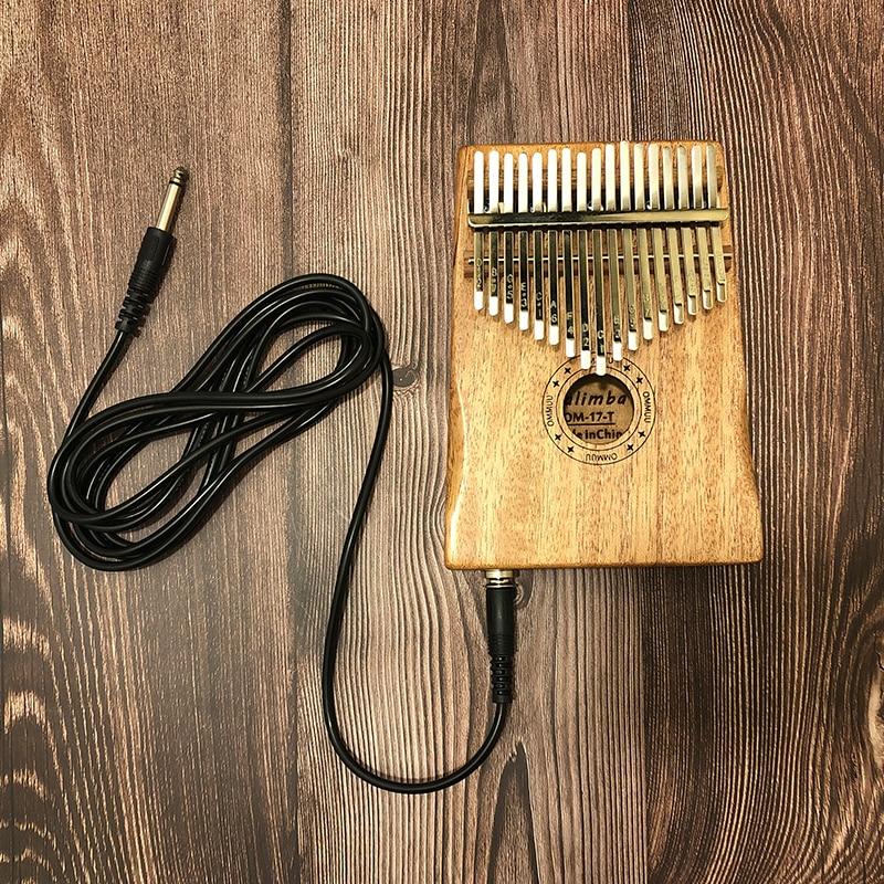 Cable 17 Key Kalimba African Solid Mahogany Thumb Finger Piano Sanza 17 Key Solid Wood Kalimba Mbira Thumb Free Shipping Kalimba