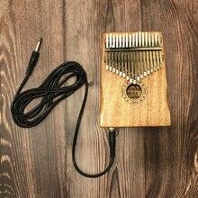 Kalimba Cable de 17 teclas, Piano de dedo de caoba maciza africana, Piano Sanza de 17 teclas, de madera maciza Kalimba, Pulgar Mbira, envío gratis