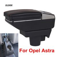 For Opel Astra Armrest Box Opel Astra H USB Charging heighten Double layer central Store content cup holder ashtray accessories