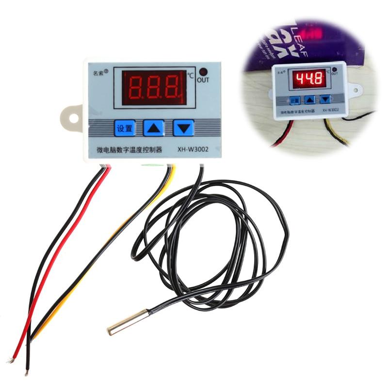 220V 12V 24V Digital LED Temperature Controller Thermostat Switch Probe Sens 1x 220v 16a thermostat knob refrigerator temperature switch controller probe