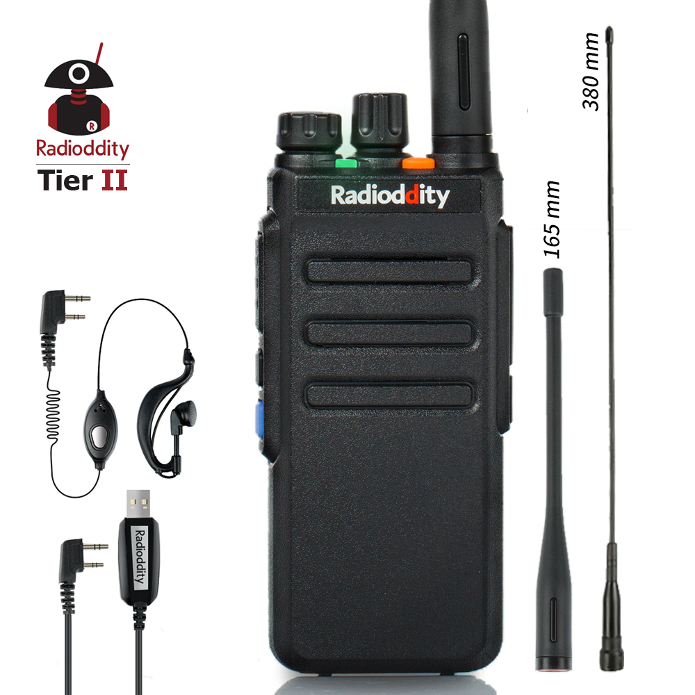 Radioddity GD-77S DMR Dual Band Dual Time Slot Ham Amateur Two Way Radio Digital/Analog Walkie Talkie 1024 Channels