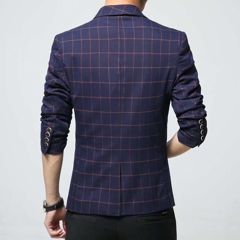 8b830926a56c 2019 nuovo inverno abiti casual da uomo Elegante plaid giacca sportiva per  uomo di Alta Qualità uomo slim fit suit giacche Grande formato 6XL vestito  di ...