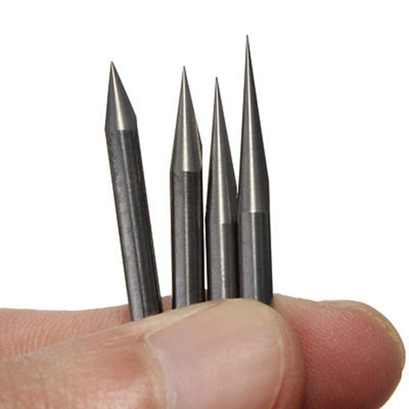 20pcs Carbide PCB Engraving Bits 3.175mm CNC Router Bit 10/15/20/30 Degree Milling Cutter Tools
