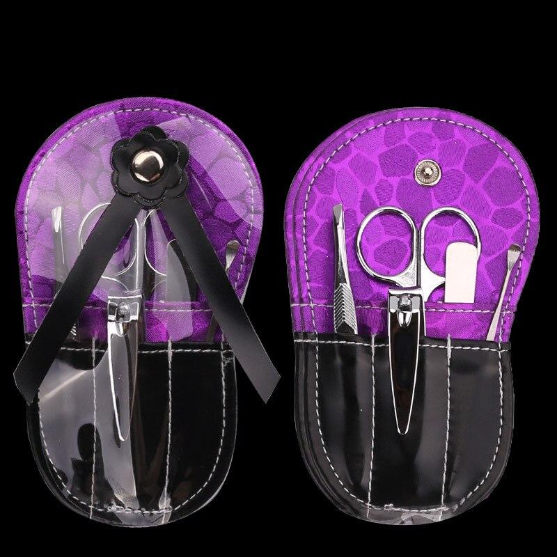 Nail Art Kit Boots: 5pcs/set Cute Cartoon Shoes Nail Clipper Kit Stainless