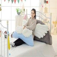 Angel's Wing Bed Backrest Plush Pillow Big Back Support Pillow Bedside Lumbar Chair Lumbar Cushion Lounger Reading Pillow