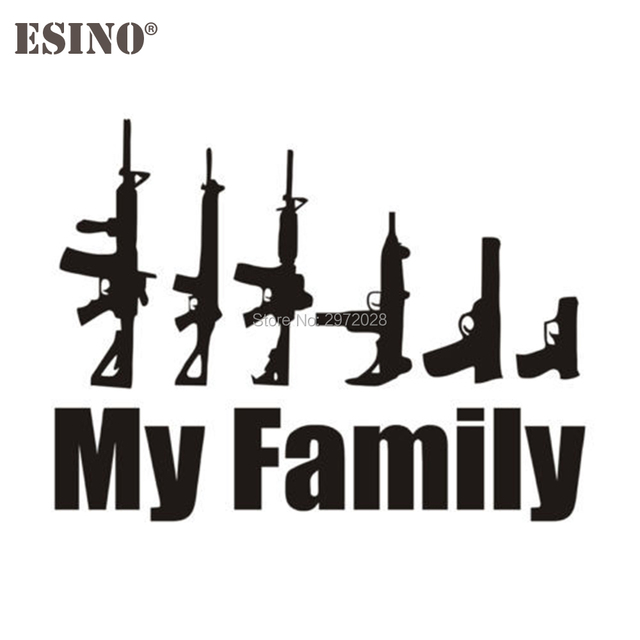 33669576a1d0 El más nuevo diseño divertido mi AK 47 familia creativa auto Decal Cartoon  car pegatina Cuerpo