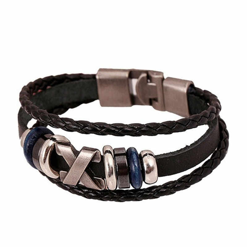 Stylish Bar Men Women Creative Hotest New Leather Jewelry Punk Bracelet Bracelet Fittings Luxury For Gift Casual Bracelet Bangle