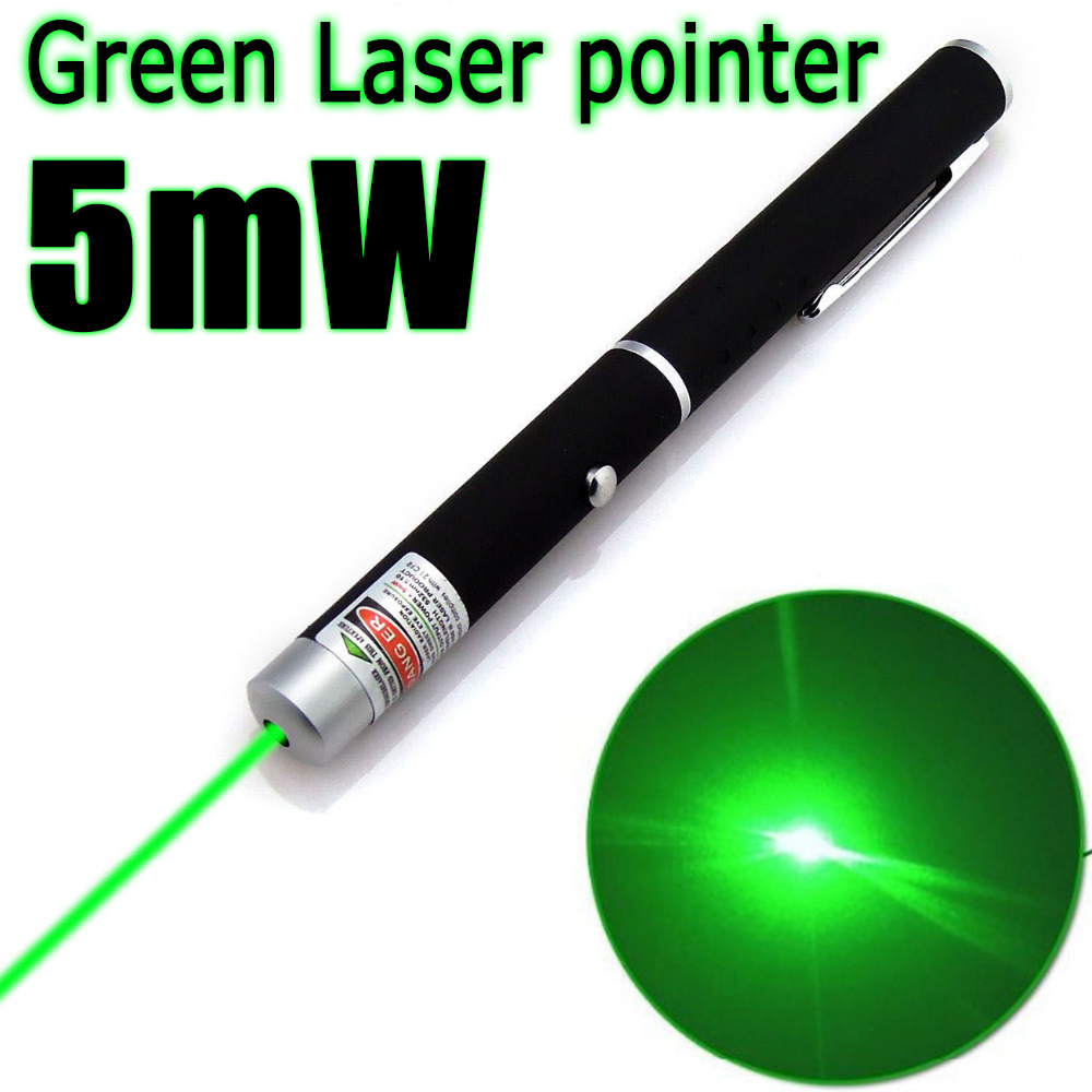 1Pcs 5mW 532nm Green Laser Pen Powerful Laser Pointer Presenter Remote Lazer Hunting Laser Bore Sighter Without Battery