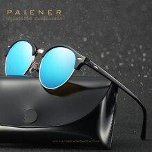 Novo HD Polarizada Óculos De Sol Das Mulheres dos homens de metal Semi-Designer Rodada Óculos de Sol shades gafas de sol Oculos Masculino e acessórios