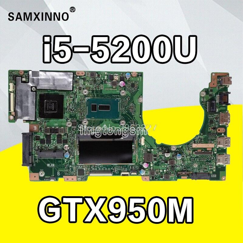 K501LX Laptop motherboard for ASUS K501LX K501L K501 Test original mainboard 4G RAM I5-5200U GTX950M-4G motherboard test 100% ok test 100