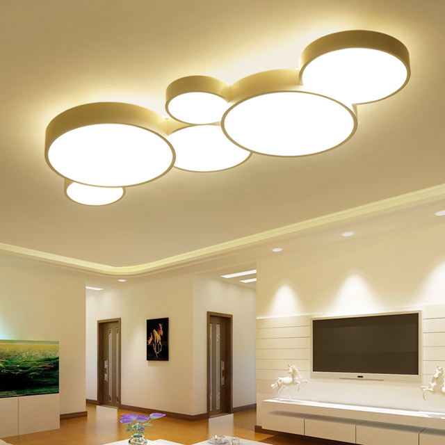 led ceiling light living room images of gray painted rooms modern panel lamp lighting fixture bedroom kitchen surface mount flush remote control