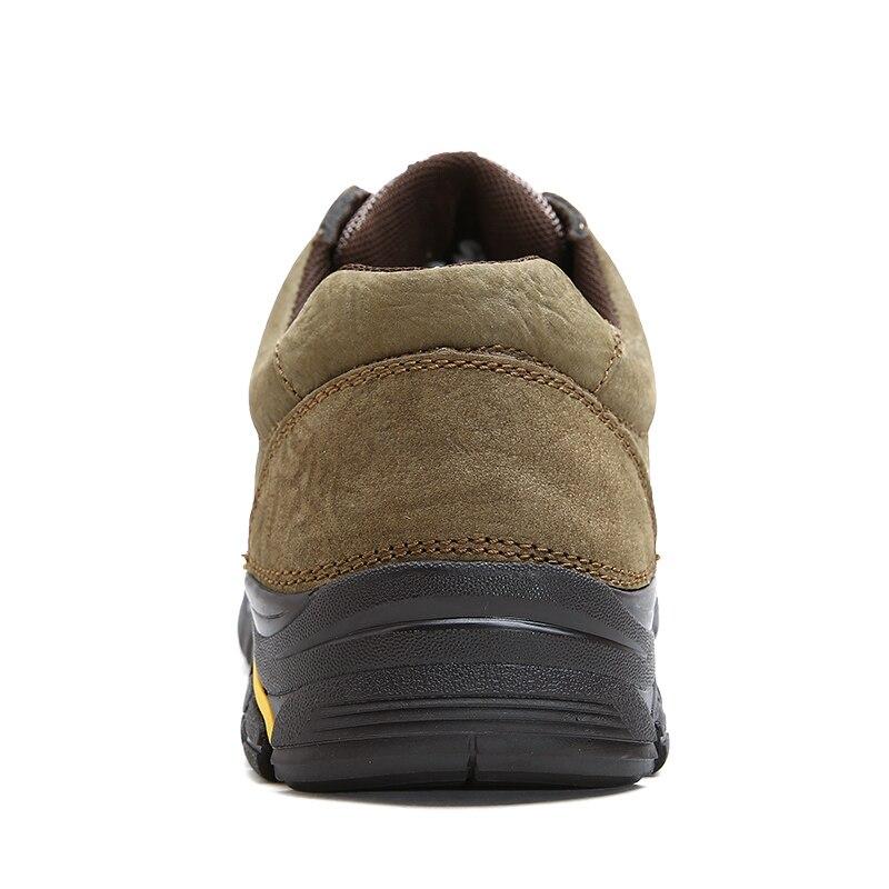 Pour Cuir Imperméable dark khaki Confortables Automne Mode Qualité Bottes 2019 Nouvelle Véritable Noir Brown Chaussures En Hommes Bottines BdorCxe