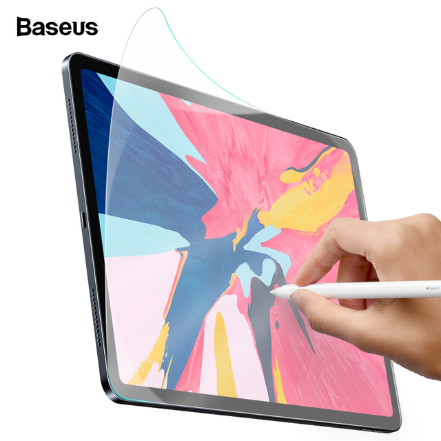 Baseus Paper Like Screen Protector Film For iPad Pro 2018 12.9 11 10.5 9.7 7.9 inch Matte PET Anti Glare Portect Painting Film