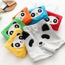 MUQGEW/Повседневные Спортивные штаны с рисунком панды для маленьких мальчиков и девочек; летние детские хлопковые шорты; одежда с эластичной резинкой на талии; короткие шорты;# EW