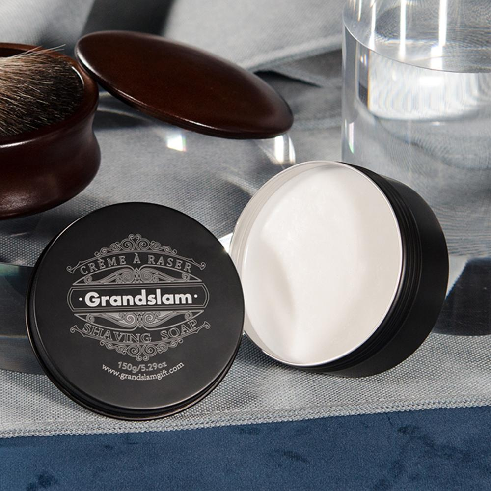 Grandslam Men's Natural Soft Shaving Cream Handmade Soap For Men 150G/5.29Oz Barber Salon Shave Beard Cream Face Smooth Cleaning