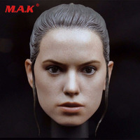 Star Wars 7 1/6 female girl super star head sculpts Rey head carving model toys for 12 action figure body gifts collections