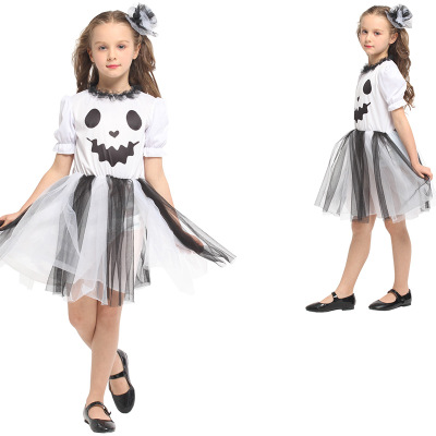 Pumpkin Girl Tutu Dress Cosplay Costume Kids Halloween Party Dresses Girl Dress Summer Children Dress Up Clothing Birthday