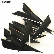 50Pcs Black 3inch Arrow Feather Vanes Wood Fiberglass Carbon  Bow and Shooting Outdoor Accessories