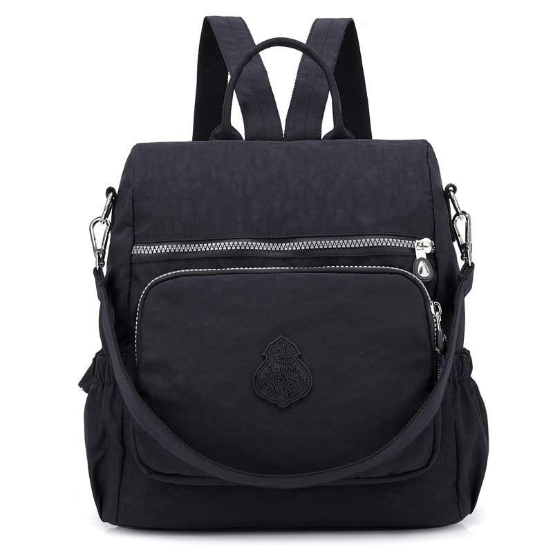 d7317be3073f Preppy Style Women Backpack Waterproof Nylon School Bag Lady Women s  Rucksack Female Casual Travel Shoulder Bag