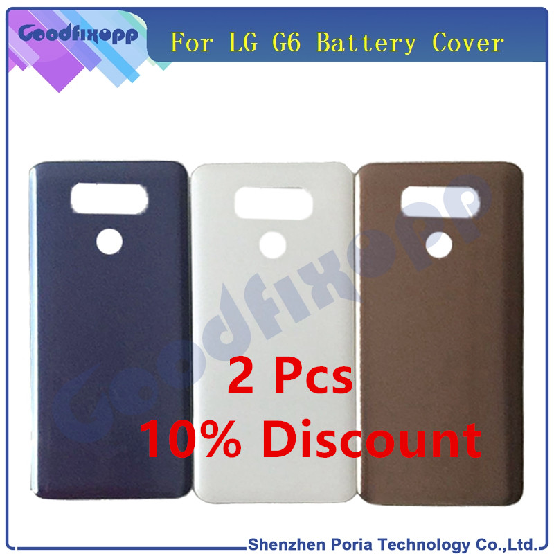 Housing Back Glass Battery Cover Rear Door For <font><b>LG</b></font> <font><b>G6</b></font> LS993 US997 VS998 H870 H871 H872 <font><b>H873</b></font> Back Cover Glass Replacement Case image