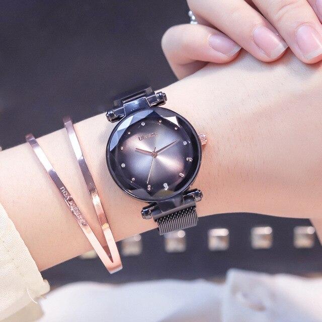 2019 Magnet Magnetic Force Unique Creative Band Women Luxury Quartz Watches Ladies Dress Wristwatches Watch NO Box&Bracelet 2