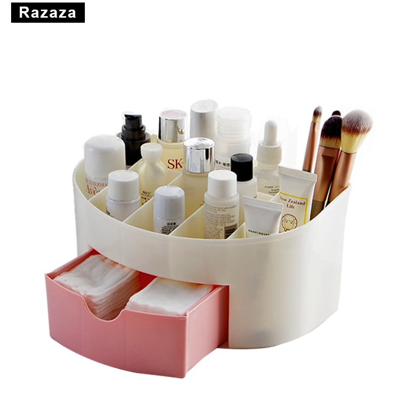 Cosmetic Jewelry Organizer Office Storage Drawer Desk Makeup Case Plastic Makeup Brush B ...
