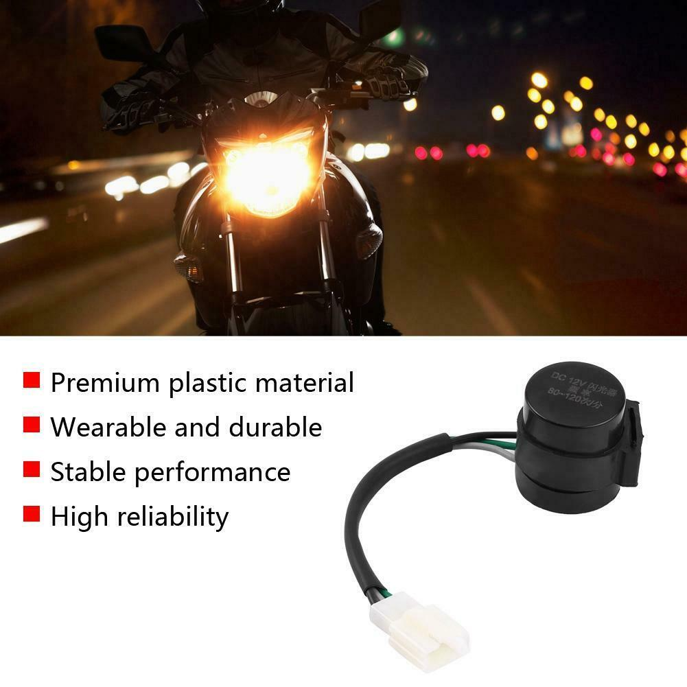 Universal 12V Motorcycle Bike ATV 3 Pins Round Turn Signal LED Flasher Relay Light Blinker Motorcycle Accessories