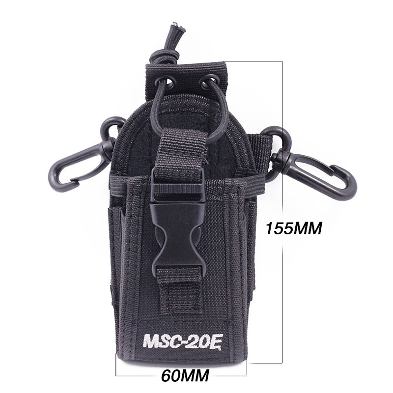 MSC-20E Portable Talkie Walkie Nylon Housse Titulaire Mains Libres pour Baofeng UV-XR UV-9R TYT Woxun Motorola Icom Talkie Walkie