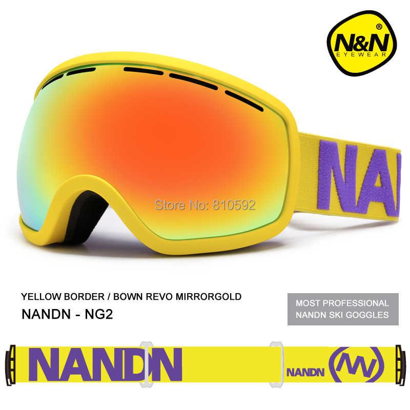 d7fb540af95 ... NANDN 8 Colors Skiing Glasses Double Layer Antimist Lens Wide Vision  Windproof Ski Eyewear Goggle for ...