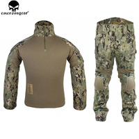 EMERSONGEAR Gen2 Tactical Suit Combat shirt Pants with Knee Pads Hunting Airsoft Paitball Uniform AOR2 EM6924