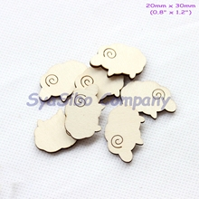 (100pcs/lot) 30MM Blank Rustic Sheep Oranments Unfinished Wooden Favor Supply Cutout 1.2″-CT1482B