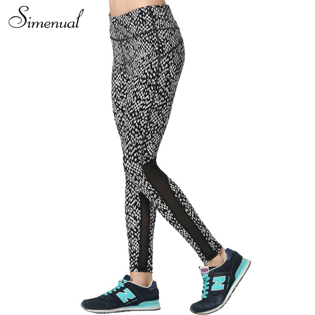 3XL Plus size fitness women leggings athleisure 2016 casual new mesh splice trousers slim print ladies legging slim leggins sale