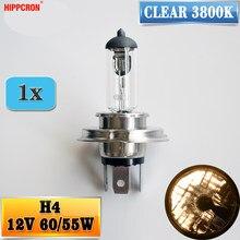 Hipcron h4 12 v 60/55 w clear 3800 k farol lâmpada de vidro do carro halogênio luz
