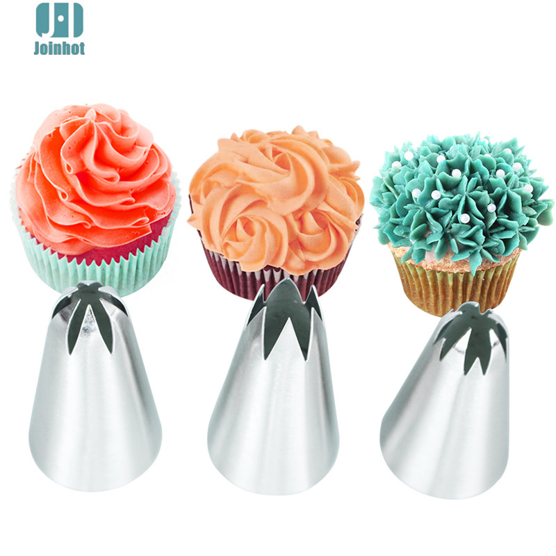 3pcs 1M 2F big size Cream Cake Icing Piping Nozzles Pastry ...