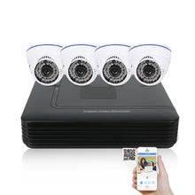 CCTV Sistema de Cámara DVR AHD 720 P Kit Opcional 2/3/4 Canales CCTV DVR HVR NVR 3 en 1 Grabadora de Vídeo Cámara Domo de Infrarrojos seguridad