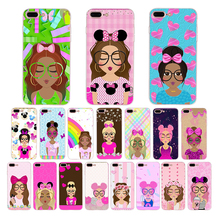 Summer rainbow pink cute Girl glasses soft phone case for iphone x xr xs max silicone cover 8 7 6 6s plus Funda 5s 5 se Coque