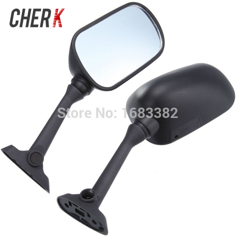 Cherk 1 Pair Motorcycle Accessories Black Rear View <font><b>Mirrors</b></font> For <font><b>Suzuki</b></font> <font><b>GSXR</b></font> 600 <font><b>750</b></font> 1000 SV650 SV650S SV1000 Bandit GSF650S image