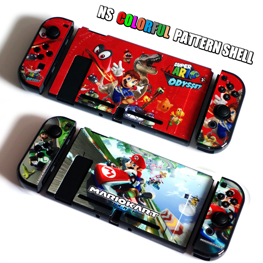 Nintend Switch NS Pattern Case Nintendos Switch Protective Hard Cover Shell Skin for Nintendo Switch Console 1