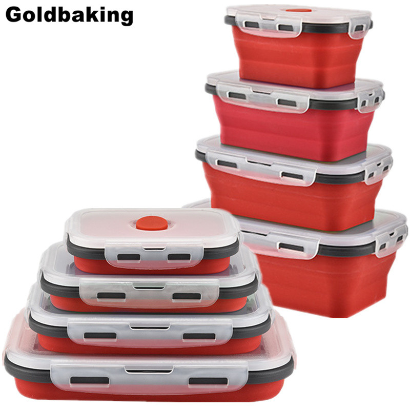 Goldbaking Silicone Lunch Box Container Microwave