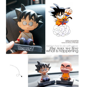 Image 5 - Son Goku Monk Car Dashboard Decoration Toys Phone Holder Mobile Clip Shake Head Styling Dolls Ornaments Interior Accessories