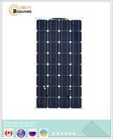 Boguang низкая цена ультратонкий гибкий моно PV Панели солнечные S 100wp 16 В 100 Вт Панели солнечные тарелка дом доска рыбацкая лодка 100 Вт
