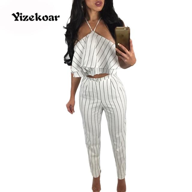 en soldes beaucoup à la mode Couleurs variées Pcs Nouvelle Combinaisons Pour 2 Femmes Mode Yizekoar 2017 D ...