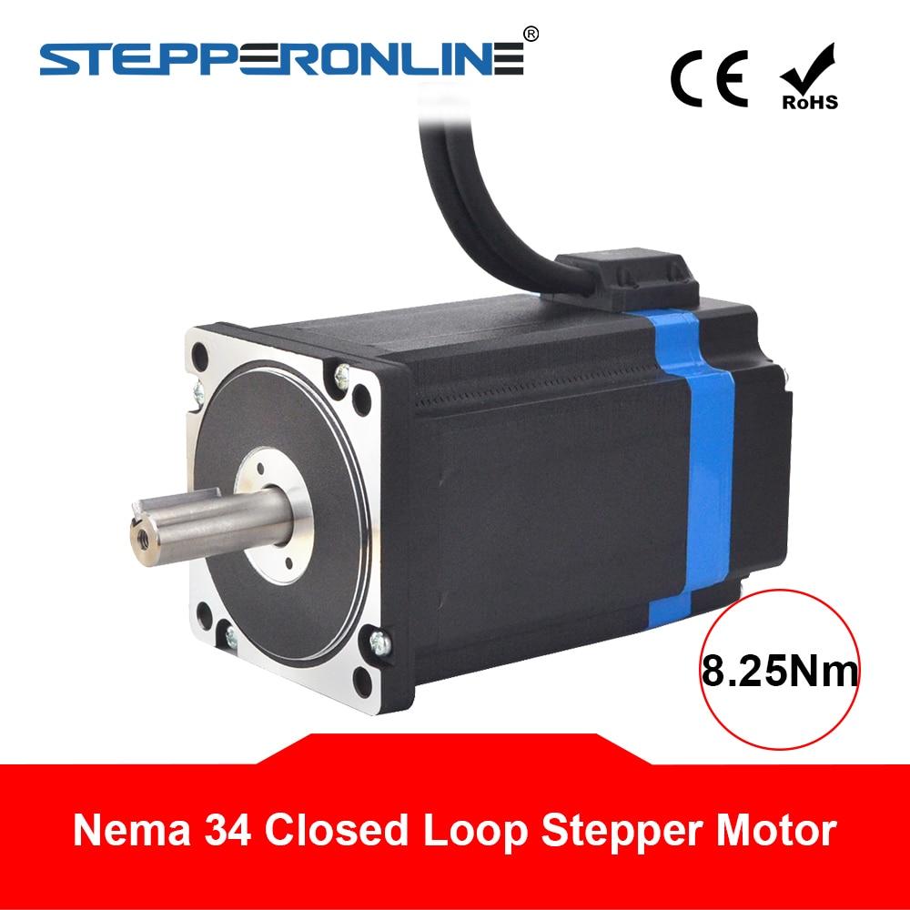 Moteur pas à pas en boucle fermée Nema 34 moteur pas à pas hybride Nema34 8.25Nm 2 phases 6A avec encodeur 1000CPR