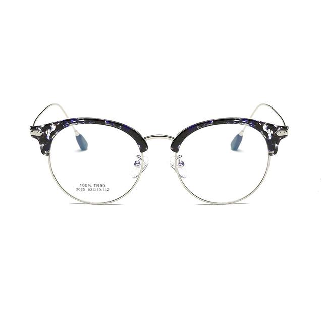 2017 Coreano rodada vidros ópticos enquadrar armações de óculos de olho para as mulheres limpar computador moda óculos de prescrição óculos 2630