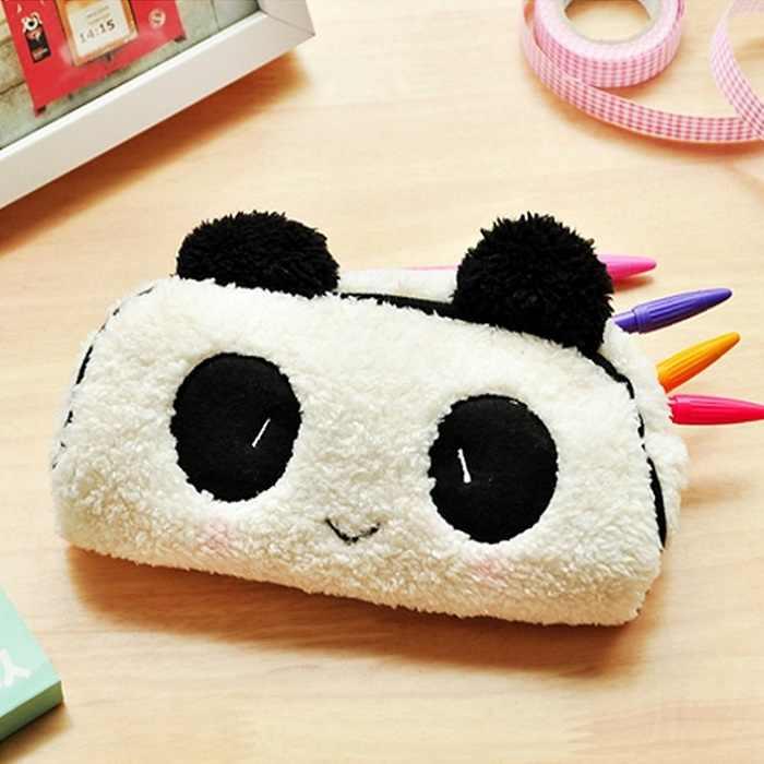 Bleistift Fall Bleistift Plüsch Tasche Kosmetik Stift Weiß Tombow Dual Pinsel Stifte Farbige Bleistifte für Erwachsene Panda