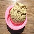 Silicone Owl Shaped Sugarcraft Fondant Soap Chocolate Mold 3D Owl Cake Mold For DIY Cake Decorating Baking Mould Random Color